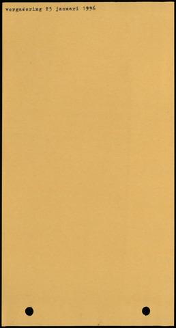 Ossendrecht: Notulen gemeenteraad, 1920-1996 1996