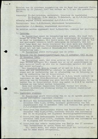 Putte: Notulen gemeenteraad, 1928-1996 1963-01-01