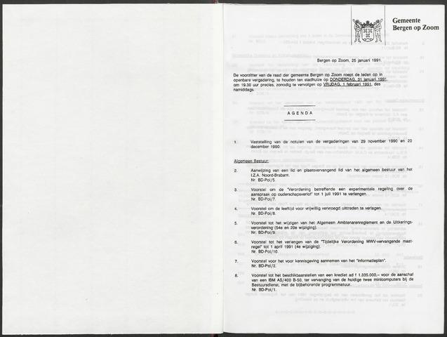 Bergen op Zoom: Notulen gemeenteraad, 1926-1996 1991-01-01