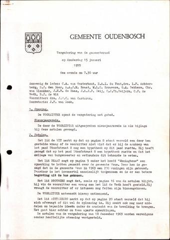 Oudenbosch: Notulen gemeenteraad, 1939-1994 1970-01-01