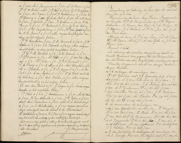 Roosendaal: Notulen gemeenteraad (besloten), 1851-1916 1900