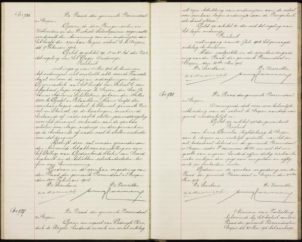 Roosendaal: Besluiten, gemeenteraad 1903-1916 1916