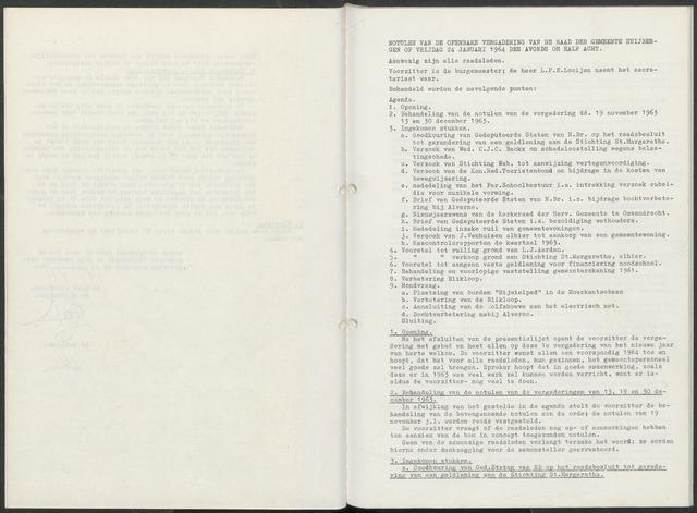 Huijbergen: Notulen gemeenteraad 1935-1996 1964-01-01