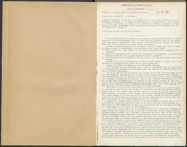 Bergen op Zoom: Notulen gemeenteraad, 1926-1996 1958-01-01