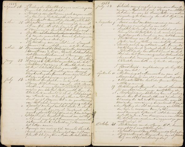 Roosendaal: Inhoudsopgaven notulen, 1849-1903 1858