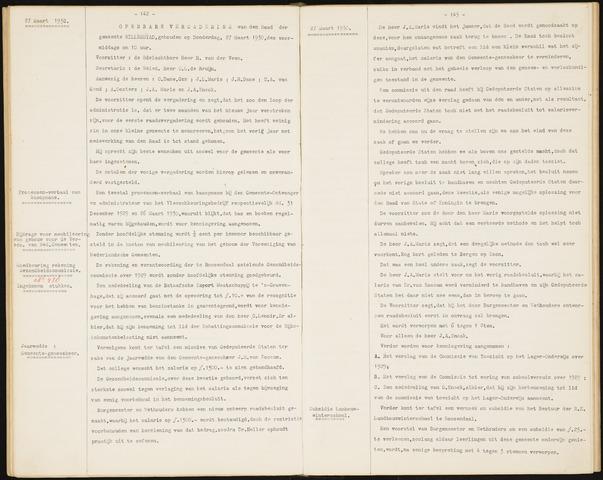 Willemstad: Notulen gemeenteraad, 1927-1995 1930-01-01