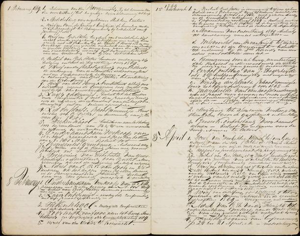 Roosendaal: Inhoudsopgaven notulen, 1849-1903 1869