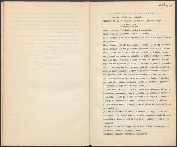 Woensdrecht: Notulen gemeenteraad, 1922-1996 1931-01-01