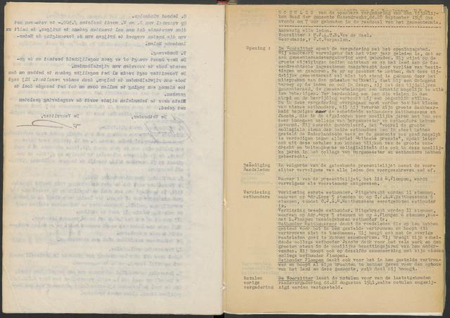 Ossendrecht: Notulen gemeenteraad, 1920-1996 1945