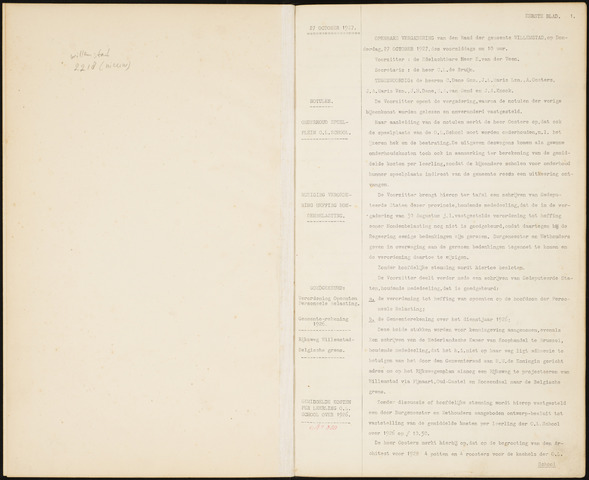 Willemstad: Notulen gemeenteraad, 1927-1995 1927-01-01