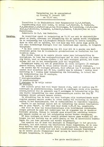 Oud en Nieuw Gastel: Notulen gemeenteraad, 1938-1980 1961-01-01