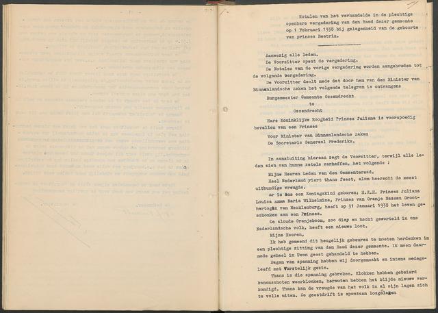 Ossendrecht: Notulen gemeenteraad, 1920-1996 1938