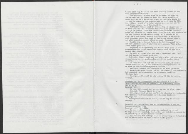 Nieuw-Vossemeer: Notulen gemeenteraad, 1957-1996 1992-01-01