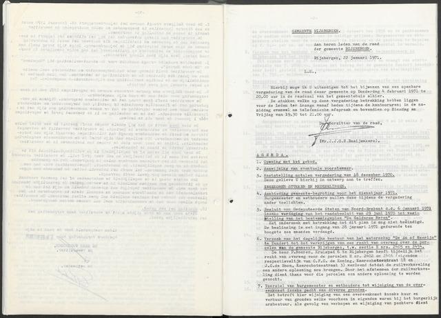 Rijsbergen: Notulen gemeenteraad, 1940-1996 1971