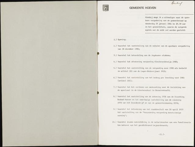 Hoeven: Notulen gemeenteraad, 1928-1996 1981-01-01