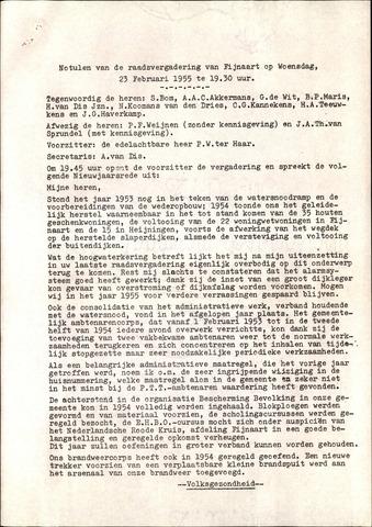 Fijnaart en Heijningen: notulen gemeenteraad, 1934-1995 1955