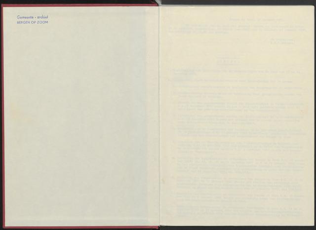 Bergen op Zoom: Notulen gemeenteraad, 1926-1996 1982-01-01