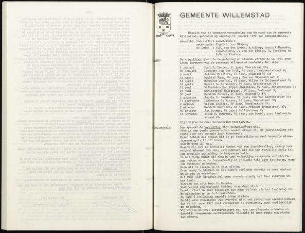 Willemstad: Notulen gemeenteraad, 1927-1995 1976-01-01