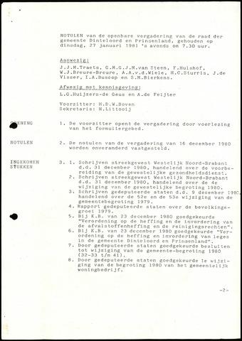 Dinteloord: Notulen gemeenteraad, 1946-1996 1981