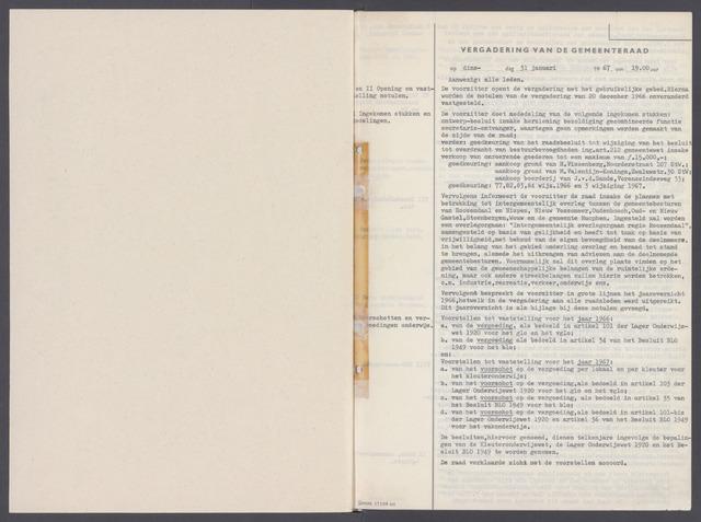Rucphen: Notulen gemeenteraad, dec. 1949-1998 1967-01-01