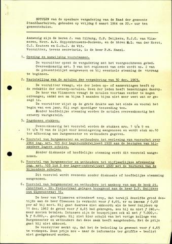 Standdaarbuiten: Notulen gemeenteraad, 1937-1996 1964-01-01
