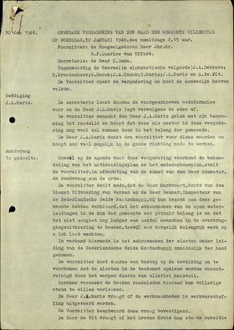 Willemstad: Notulen gemeenteraad, 1927-1995 1946-01-01