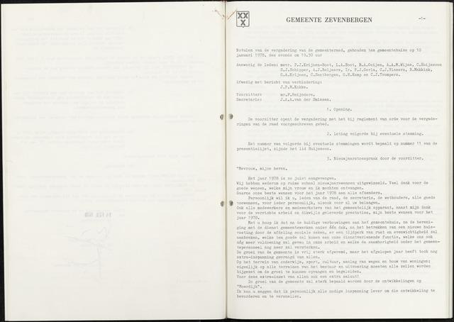 Zevenbergen: Notulen gemeenteraad, 1930-1996 1978-01-01
