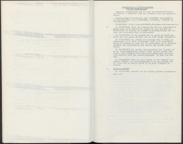 Nieuw-Vossemeer: Notulen gemeenteraad, 1957-1996 1969-01-01