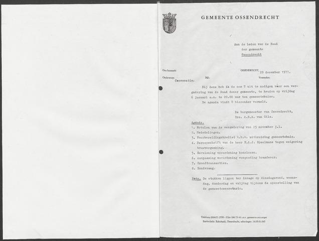 Ossendrecht: Notulen gemeenteraad, 1920-1996 1978