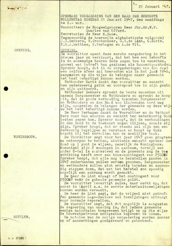 Willemstad: Notulen gemeenteraad, 1927-1995 1947-01-01
