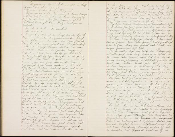 Roosendaal: Notulen gemeenteraad (besloten), 1851-1916 1910