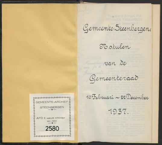 Steenbergen: Notulen gemeenteraad, 1920-1996 1937-01-01