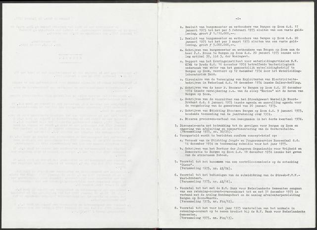 Bergen op Zoom: Notulen gemeenteraad, 1926-1996 1975-01-01