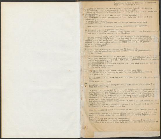 Ossendrecht: Notulen gemeenteraad, 1920-1996 1920