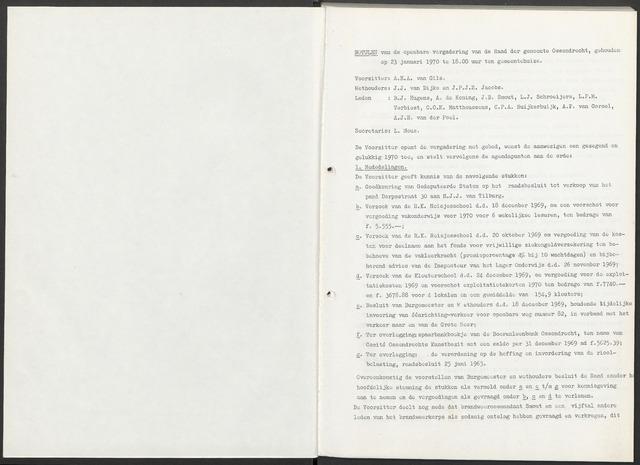 Ossendrecht: Notulen gemeenteraad, 1920-1996 1970