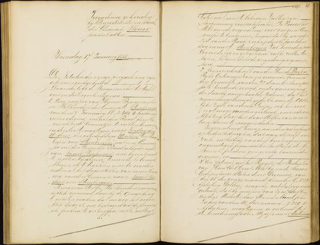 Wouw: Notulen gemeenteraad, 1813-1996 1855