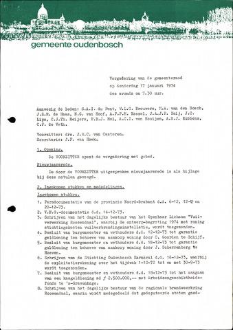 Oudenbosch: Notulen gemeenteraad, 1939-1994 1974-01-01