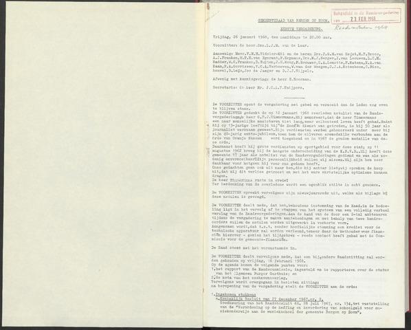 Bergen op Zoom: Notulen gemeenteraad, 1926-1996 1968-01-01
