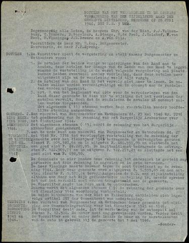 Dinteloord: Notulen gemeenteraad, 1946-1996 1946