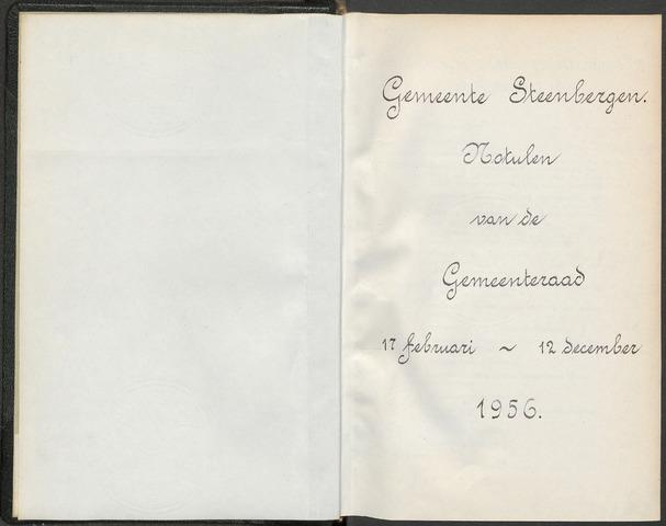 Steenbergen: Notulen gemeenteraad, 1920-1996 1956-01-01