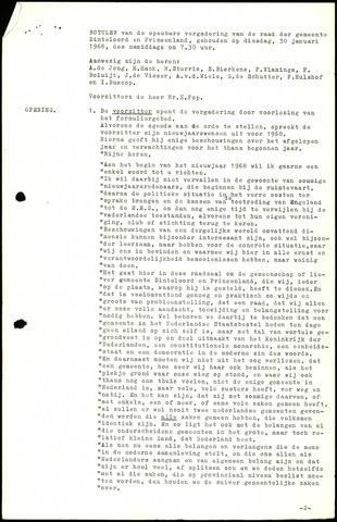 Dinteloord: Notulen gemeenteraad, 1946-1996 1968