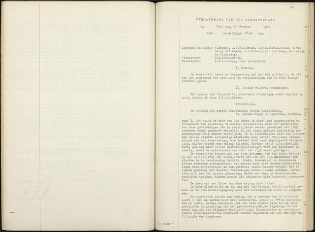 Zevenbergen: Notulen gemeenteraad, 1930-1996 1953-01-01