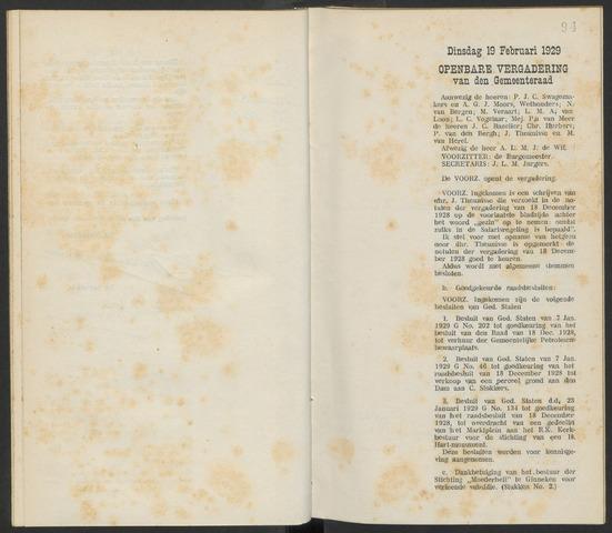 Steenbergen: Notulen gemeenteraad, 1920-1996 1929-01-01