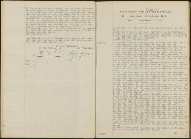 Oud en Nieuw Gastel: Notulen gemeenteraad, 1938-1980 1945-01-01