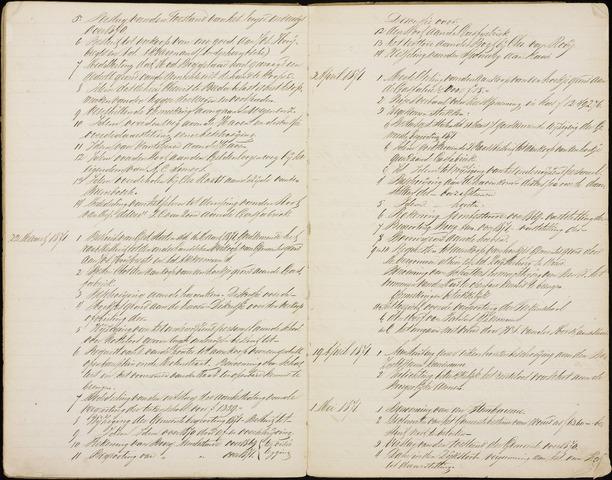 Roosendaal: Inhoudsopgaven notulen, 1849-1903 1871