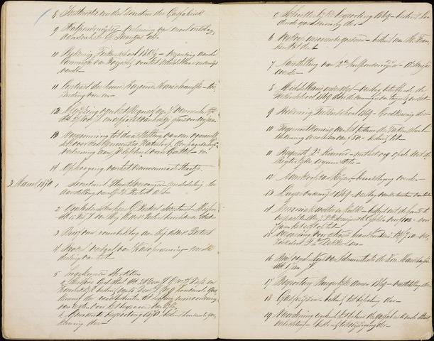 Roosendaal: Inhoudsopgaven notulen, 1849-1903 1870