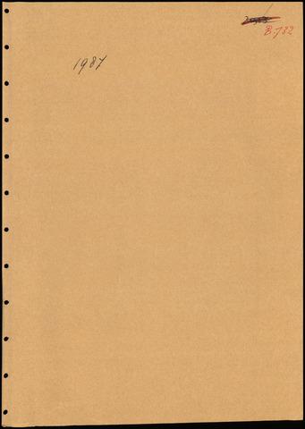 Putte: Notulen gemeenteraad, 1928-1996 1987-01-01