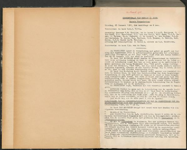 Bergen op Zoom: Notulen gemeenteraad, 1926-1996 1951-01-01