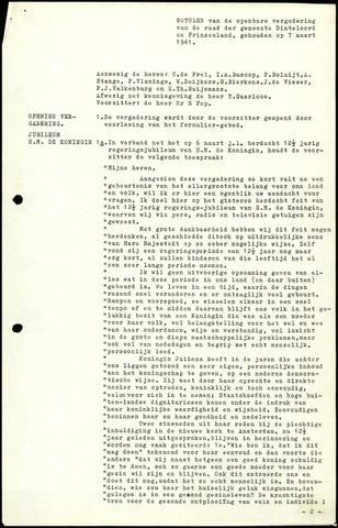 Dinteloord: Notulen gemeenteraad, 1946-1996 1961