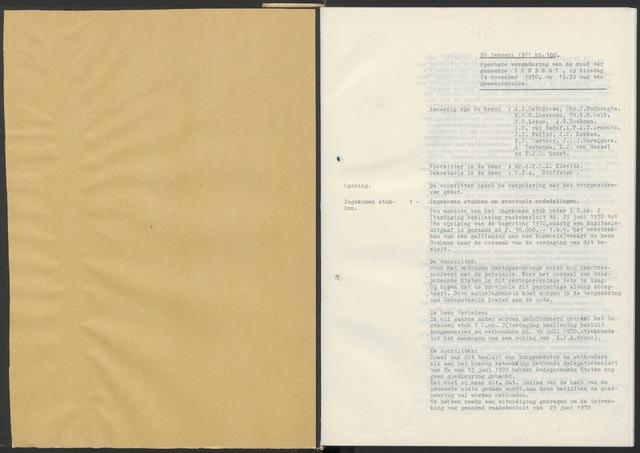 Zundert: Notulen gemeenteraad, 1934-1988 1971-01-01